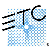 ETC logo in black with a blue background.