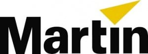 Martin logo featuring a yellow triangle.