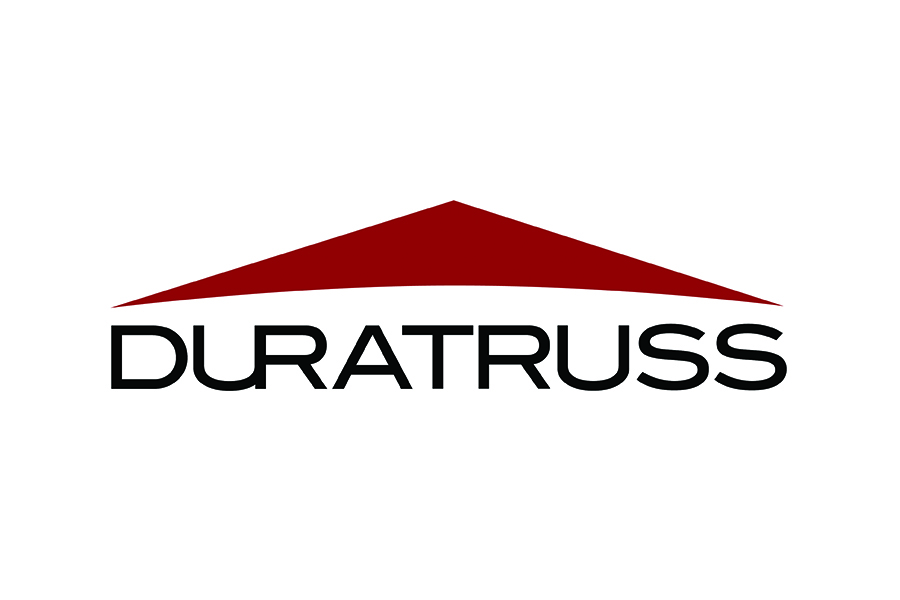 The Duratruss logo featuring a red triangle.