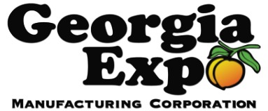 Georgia Exp Manufacturing Corporation logo featuring a yellow peach.