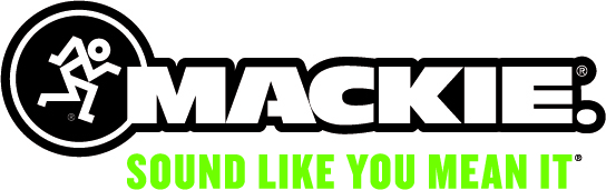 "The Mackie logo featuring the text ""sound like you mean it"""