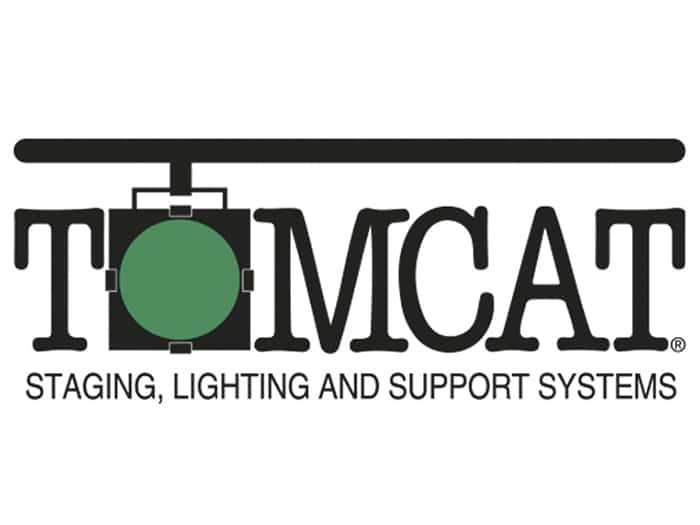 The Tomcat Staghing, Lighting, and Support Systems logo.